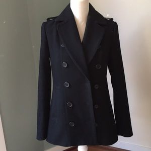 Armani Exchange Women's Black Peacoat